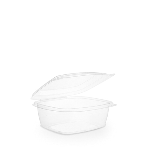 Hinged Lid PLA Deli Container 68.2cl Clear