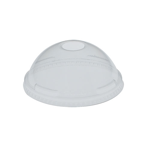 Solo UltraClear PET Domed Lid with Hole 7oz
