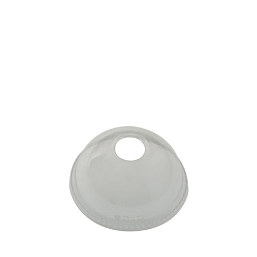 Solo Ultraclear PET Domed Lid with Hole 10oz Clear