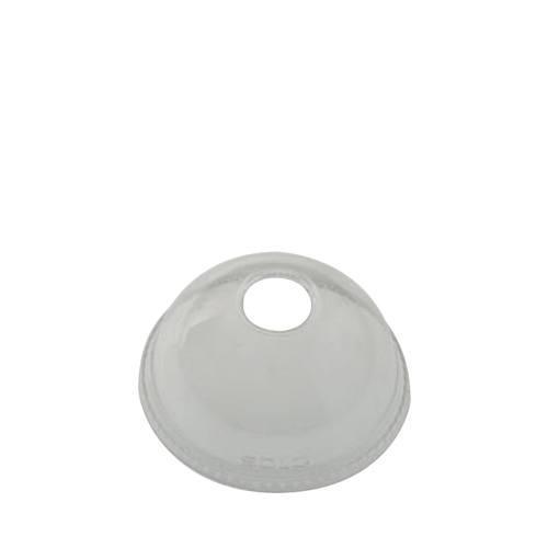 Solo Ultraclear PET Domed Lid with Hole 12oz Clear