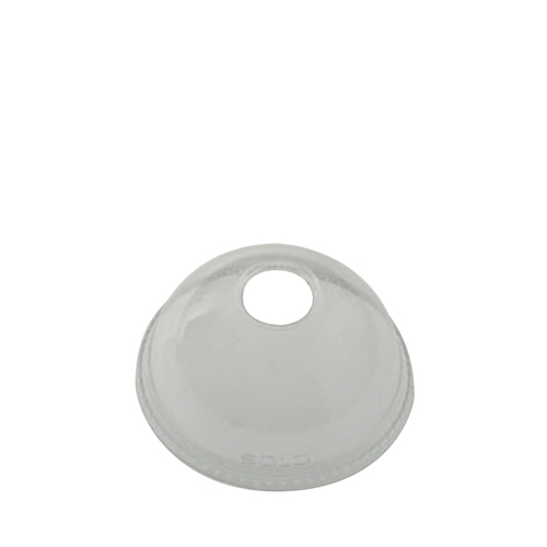 Solo Ultraclear PET Domed Lid with Hole 16oz Clear