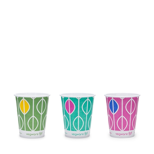 Vegware Hula PLA Lined Cup 9oz Multi