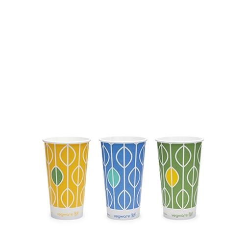 Vegware Hula PLA Lined Cup 12oz Multi