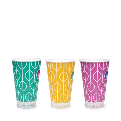 Vegware Hula PLA Lined Cup 22oz Multi
