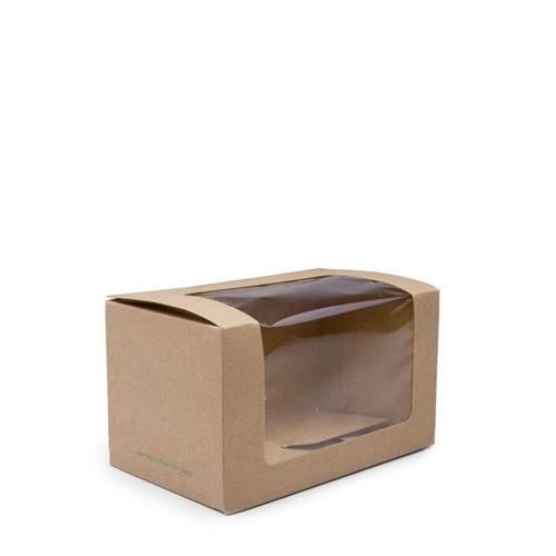 Vegware Bloomer Sandwich Box 125x76x71mm Brown