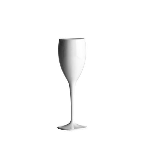 Polycarbonate  Flute 6oz White