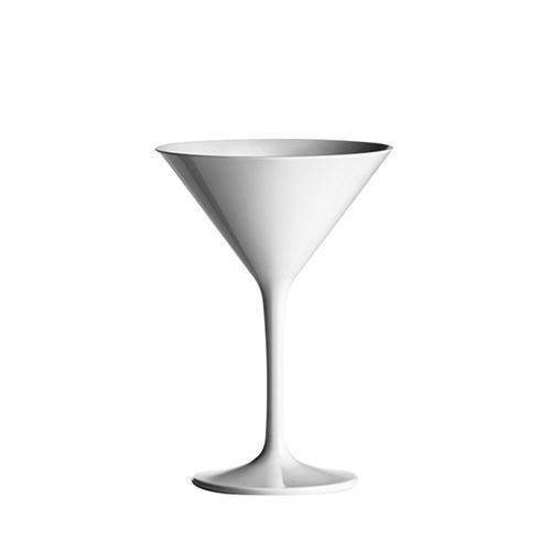 Polycarbonate  Martini Glass 8oz White