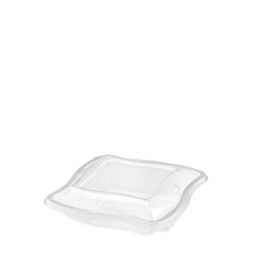 Wave  Hinged Salad Bowl 375ml Clear