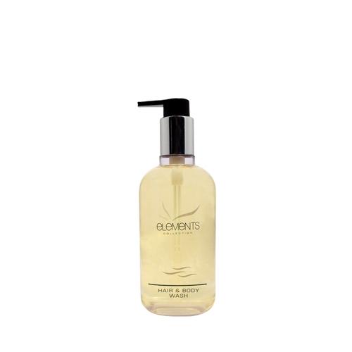Elements Hair & Body Wash Pump Bottle 300ml Clear