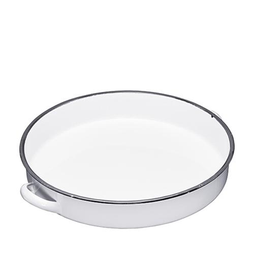 Kitchen Craft Enamel Serving Tray 36cm Grey Rim