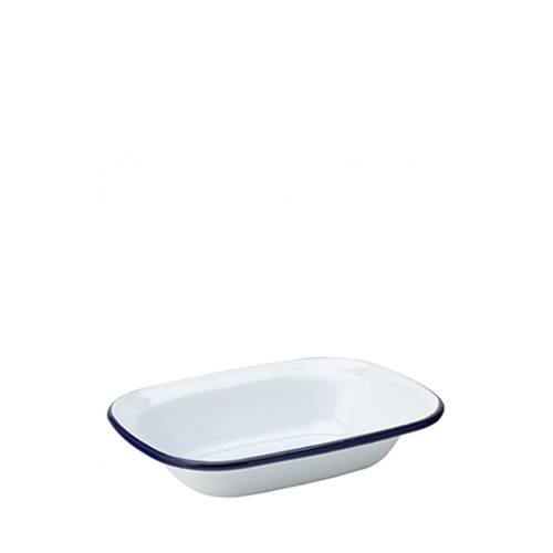 Utopia Enamelware Oblong Pie Dish 6.25