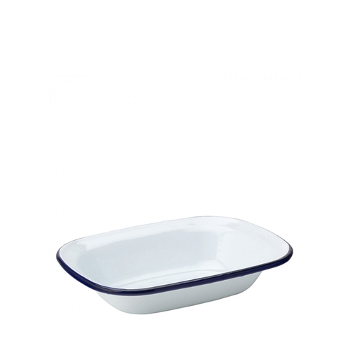 Utopia Enamelware Oblong Pie Dish 7.75