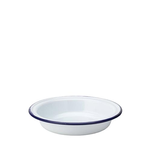 Utopia Enamelware Round Pie Dish 9
