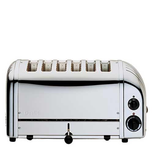 Dualit NewGen 6 Slot Commercial Toaster Stainless Steel