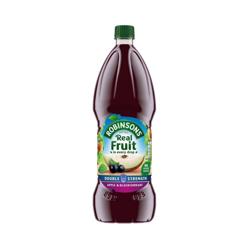 Robinsons Double Concentrate No Added Sugar Apple & Blackcurrant Cordial 1.75 Ltr