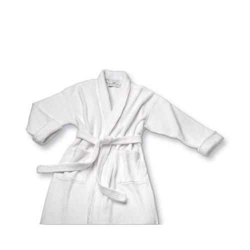 Microterry Shawl Collar Bathrobe White