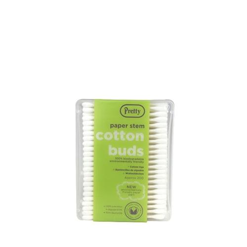 Paper Stem  Cotton Buds 200 buds per box White