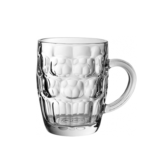 Utopia Dimple  Beer Tankard 20oz CE Clear