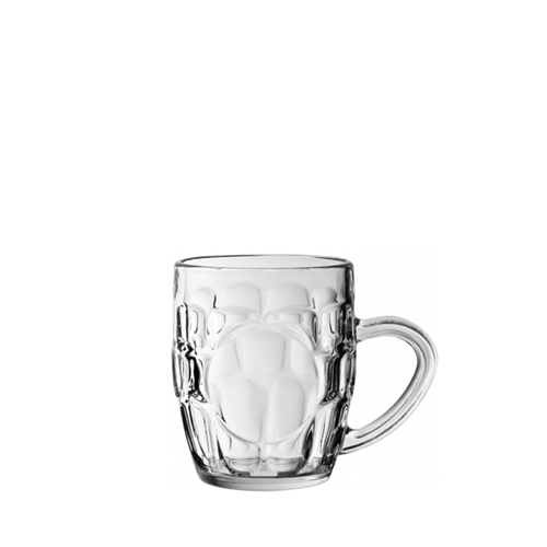 Utopia Dimple  Panelled Beer Tankard 10oz CE Clear