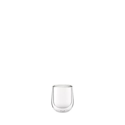 Utopia Double Walled Macchiato Glass 11cl Clear