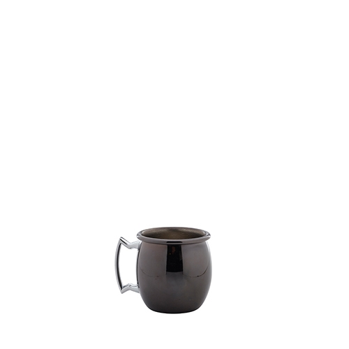 Genware Gun Metal  Mini Barrel Shot Mug 2oz Gun Metal Black