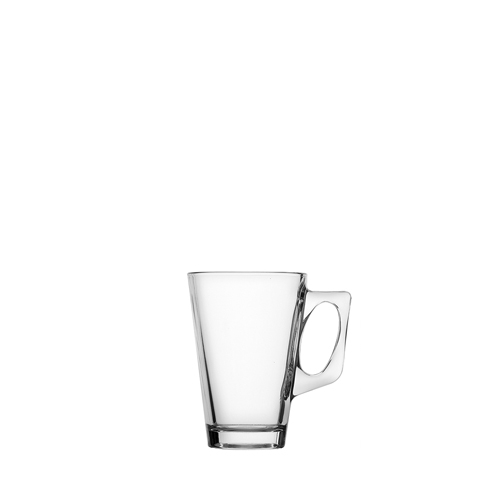 Utopia Toughened Conic Glass Coffee Mug 25cl Clear