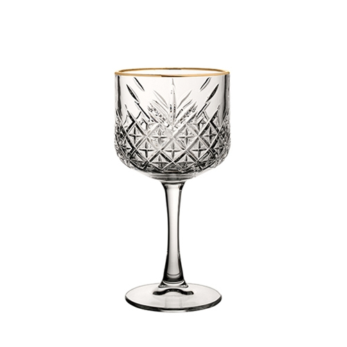 Utopia Timeless Vintage Cocktail Glass with Gold Rim 19.25oz Clear