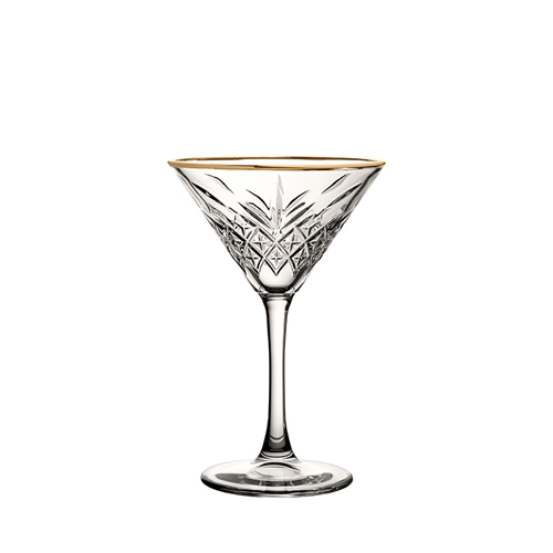 Utopia Timeless Vintage Martini Glass with Gold Rim 23cl Clear
