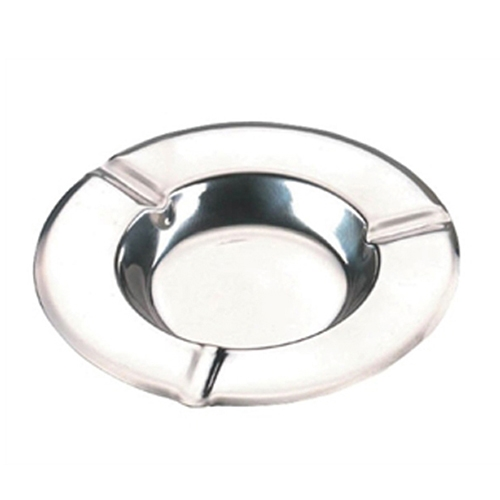 Stacking Round Ashtray 12.5 cm x 12.5 cm x 2.5 cm Stainless Steel