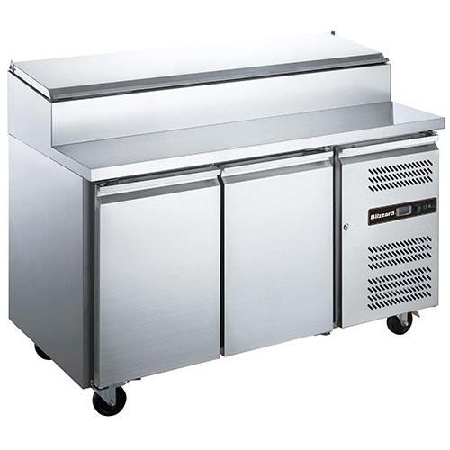 Blizzard 2 Door PREP Counter Refrigerator HBC2 282Ltr Stainless Steel