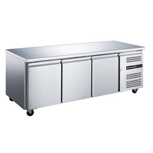 Blizzard 3 Door Counter Refrigerator HBC3NU 417Ltr Stainless Steel