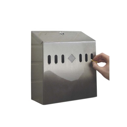 "Wall Mounted Cigarette Disposal Unit W 10.4"" D 4.25""  Stainless Steel"