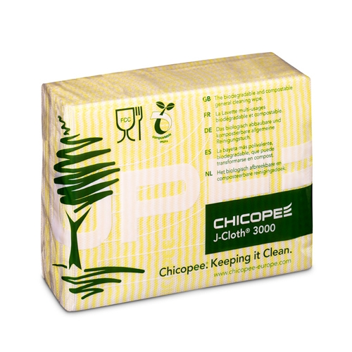 Chicopee  J-Cloth 3000 Compostable Cloth Yellow