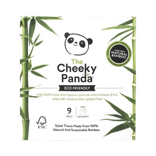 Cheeky Panda Bamboo  3 Ply Toilet Tissue 200 Sheet White