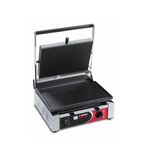 Sirman Large Single Panini Grill Ribbed CORT RR T Stainless Steel