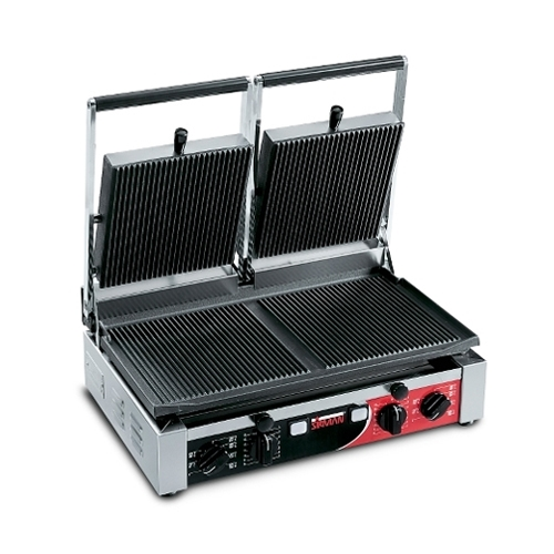 Sirman Double Panini Grill with Ribbed Surface Stainless Steel