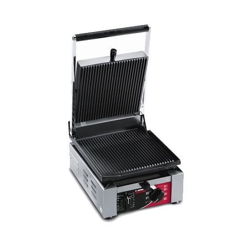 Sirman Single Panini Grill with Ribbed Surface Stainless Steel
