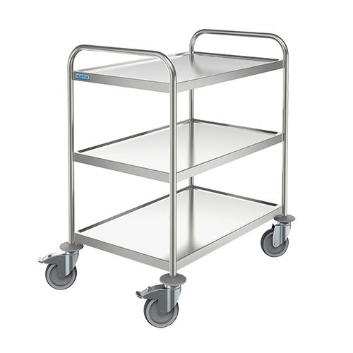 Trak Hupfer General Trolley - 3 shelves - Small Stainless Steel