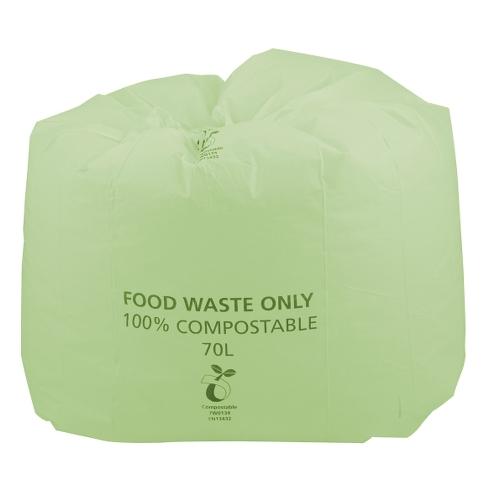 Compostable  Waste Sack 70Ltr Green