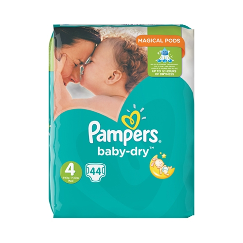 Pampers Baby Dry Maxi Nappies Size 4 44 Nappies per Pack White