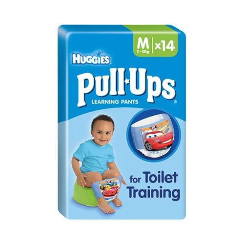 Huggies Boys Pull Ups Medium Size 5 14 Pull Ups per Pack Multi
