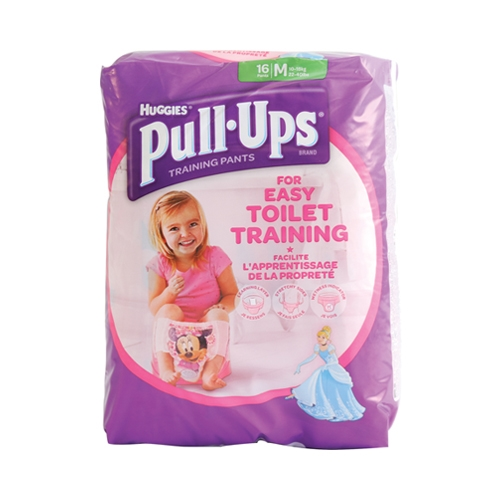 Huggies Girls Pull Ups Medium Size 5 16 Pull Ups per Pack Multi