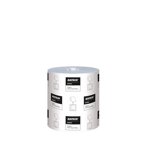 Katrin Basic System 1 Ply Hand Towel Rolls 895 sheets per roll (200 m roll) Blue