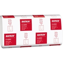 Katrin Classic  2Ply Hand Towels L2 110 Sheets per sleeve White