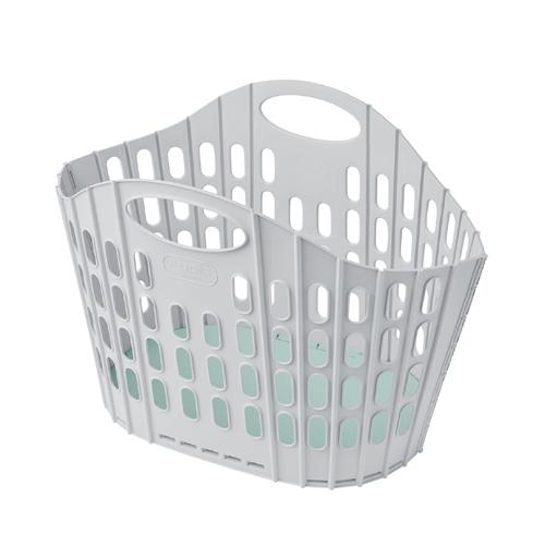 Fold Flat Laundry Basket 38 Ltr White