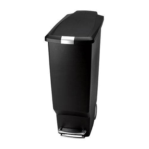 Simplehuman Slim Plastic  Pedal Bin 40Ltr Black