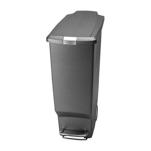 Simplehuman Slim Plastic  Pedal Bin 40Ltr Grey