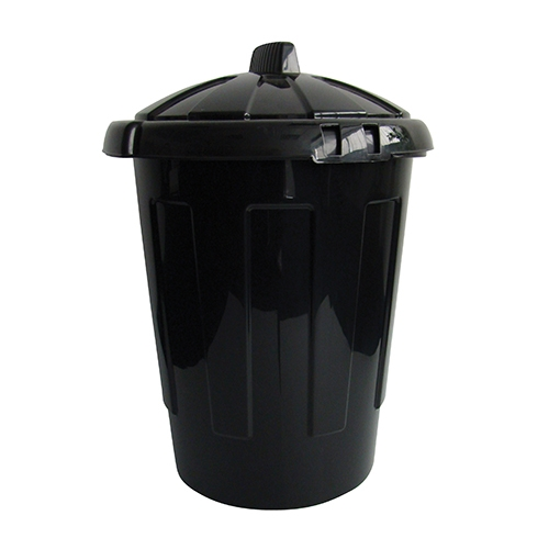 Dustbin with Lid 80Ltr Black