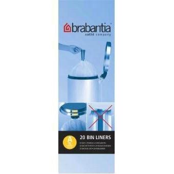 Brabantia Drawstring Handle Bin Liner 270x285mm Clear
