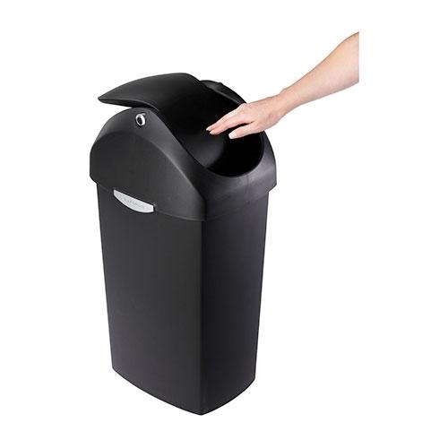 Simplehuman Swing Lid  Plastic Bin 60Ltr Black